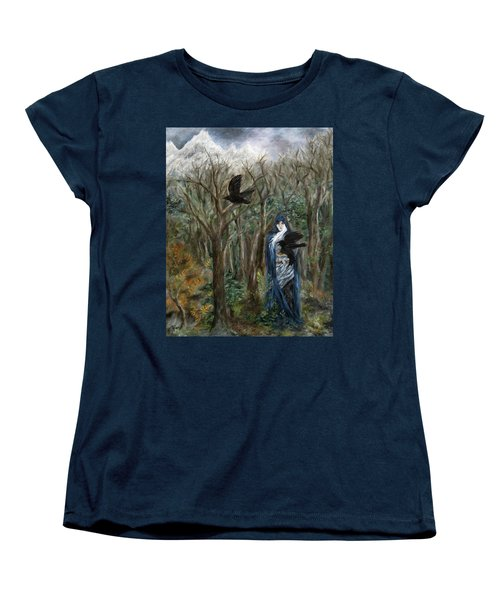 The Raven God Women's T-Shirt (Standard Cut) by FT McKinstry