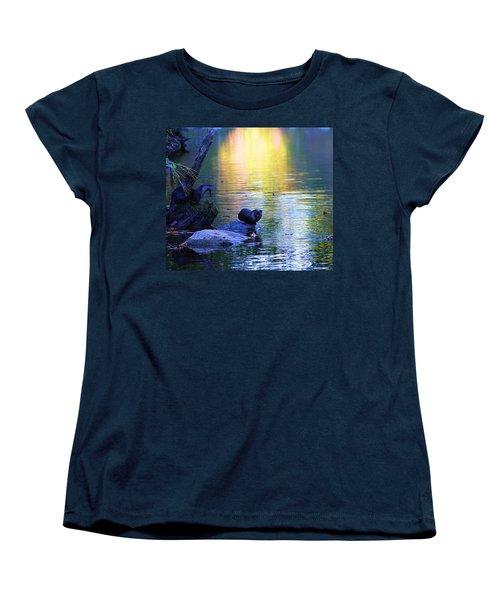 Otter Family Women's T-Shirt (Standard Cut) by Dan Sproul