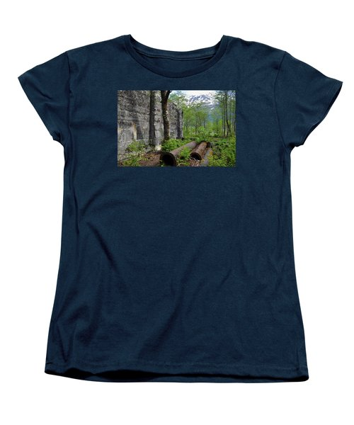 Women's T-Shirt (Standard Cut) featuring the photograph Out From The Past by Cathy Mahnke