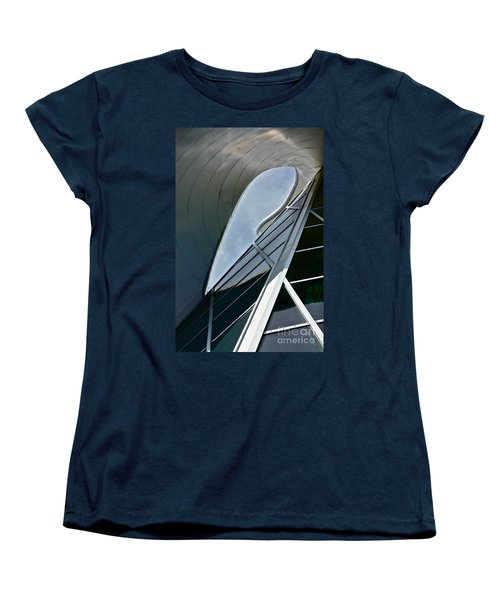Outer Space Women's T-Shirt (Standard Cut) by Linda Bianic