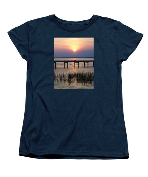 Women's T-Shirt (Standard Cut) featuring the photograph Outerbanks Nc Sunset by Sandi OReilly