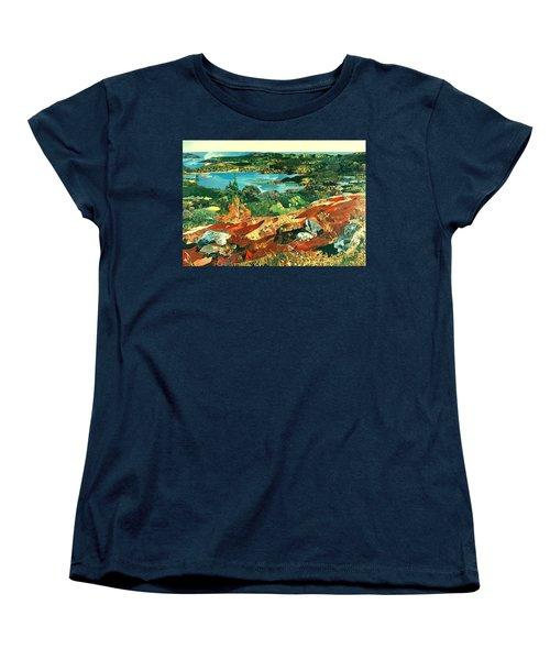 Overlooking The Bay Women's T-Shirt (Standard Cut) by Robin Birrell