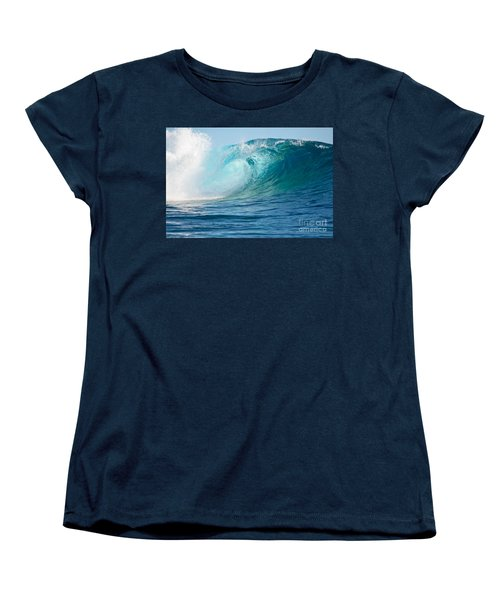 Pacific Big Wave Crashing Women's T-Shirt (Standard Cut) by IPics Photography