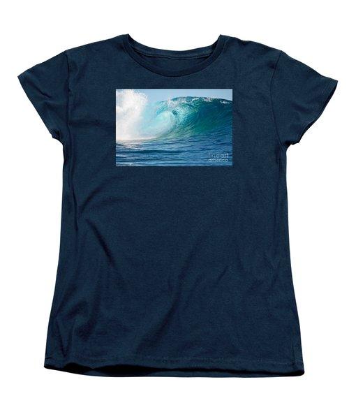 Pacific Big Wave Crashing Women's T-Shirt (Standard Cut)