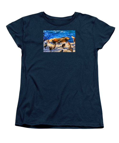 Women's T-Shirt (Standard Cut) featuring the photograph Pacific Harbor Seal by Jim Carrell