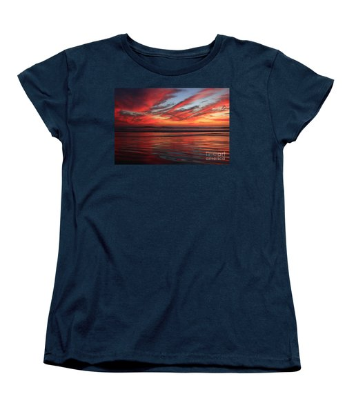Women's T-Shirt (Standard Cut) featuring the photograph Oceanside Reflections by John F Tsumas