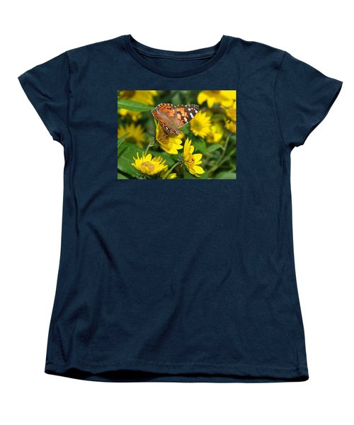 Women's T-Shirt (Standard Cut) featuring the photograph Painted Lady by James Peterson