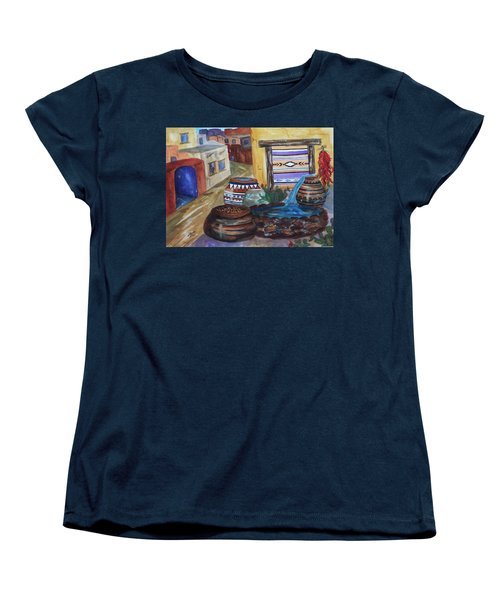 Painted Pots And Chili Peppers II  Women's T-Shirt (Standard Cut) by Ellen Levinson
