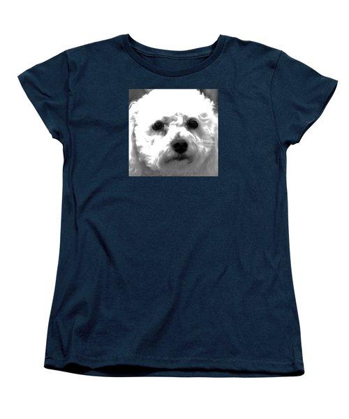 Painterly Bichon Frise Women's T-Shirt (Standard Cut) by Patrice Zinck