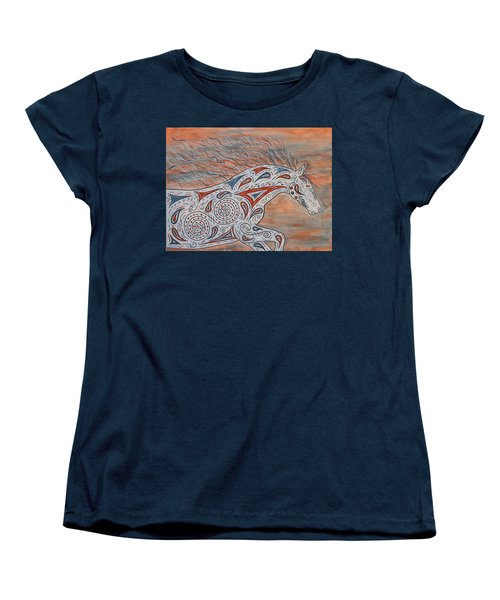 Women's T-Shirt (Standard Cut) featuring the painting Paisley Spirit by Susie WEBER