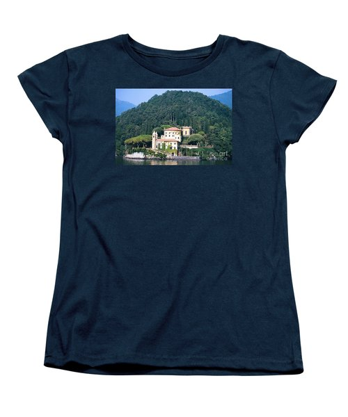 Women's T-Shirt (Standard Cut) featuring the photograph Palace At Lake Como Italy by Greta Corens