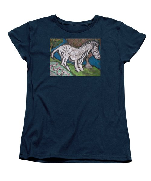 Women's T-Shirt (Standard Cut) featuring the painting Out There Alone. by Jonathon Hansen