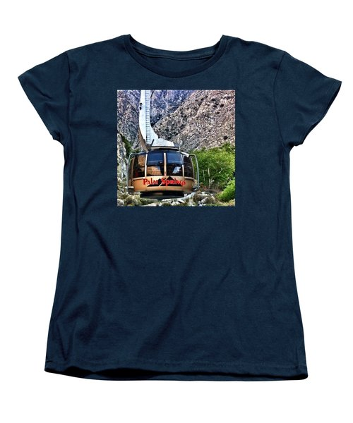 Palm Springs Tram 2 Women's T-Shirt (Standard Cut) by Susan Garren
