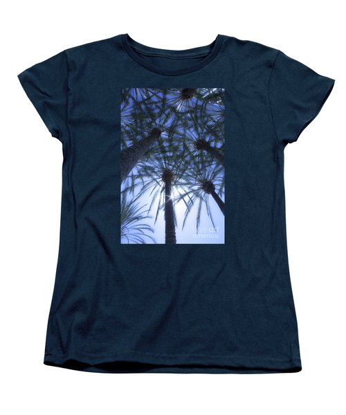 Women's T-Shirt (Standard Cut) featuring the photograph Palm Trees In The Sun by Jerry Cowart