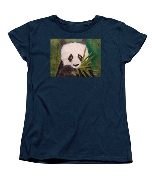 Women's T-Shirt (Standard Cut) featuring the painting Panda by Jenny Lee