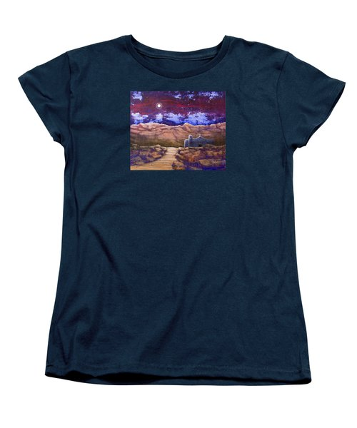 Paper Moon Women's T-Shirt (Standard Cut) by Jack Malloch