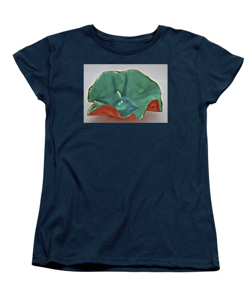 Women's T-Shirt (Standard Cut) featuring the sculpture Paper-thin Bowl  09-007 by Mario Perron