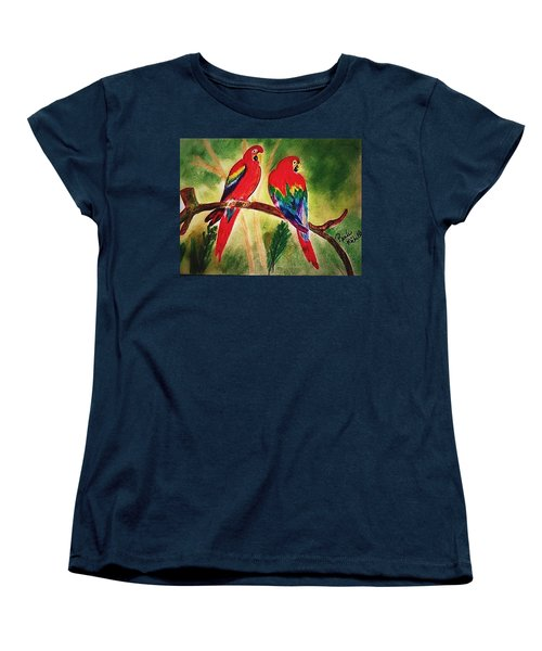 Parakeets In Paradise Women's T-Shirt (Standard Cut) by Renee Michelle Wenker