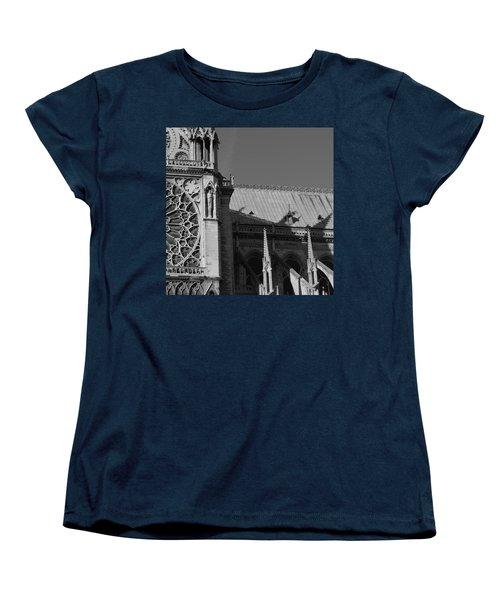Paris Ornate Building Women's T-Shirt (Standard Cut) by Cheryl Miller
