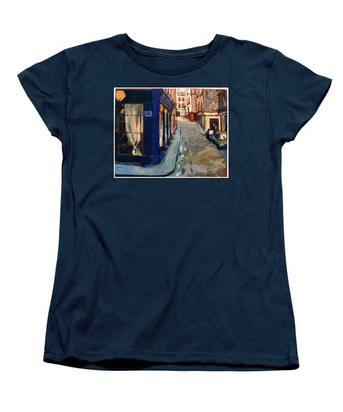 Women's T-Shirt (Standard Cut) featuring the painting Paris Cityscape by Walter Casaravilla