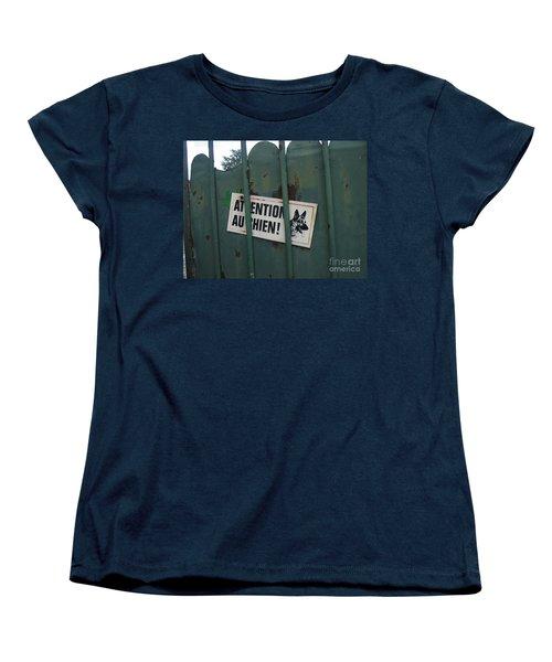 Paris - Farm Dog Women's T-Shirt (Standard Cut) by HEVi FineArt