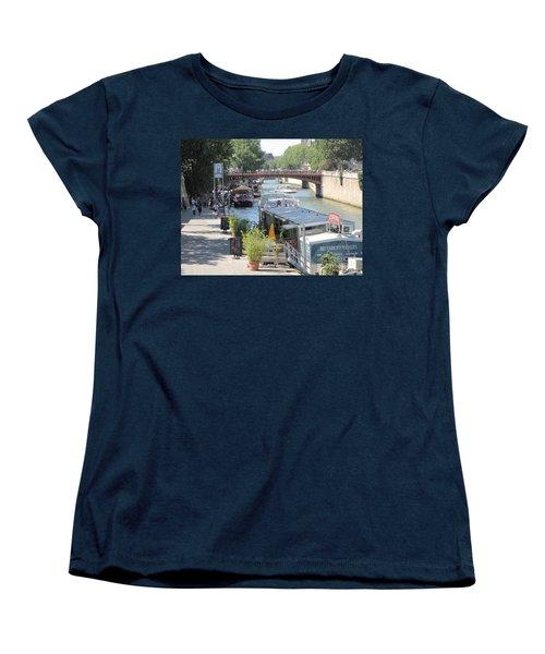 Paris - Seine Scene Women's T-Shirt (Standard Cut) by HEVi FineArt