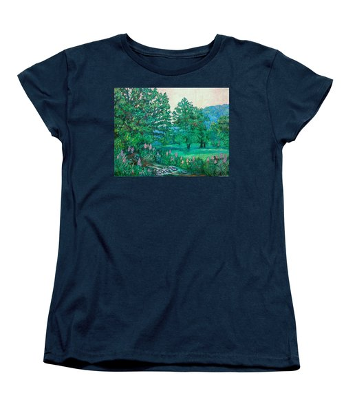 Women's T-Shirt (Standard Cut) featuring the painting Park Road In Radford by Kendall Kessler