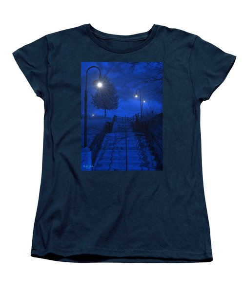 Women's T-Shirt (Standard Cut) featuring the photograph Park Stairs by Michael Rucker