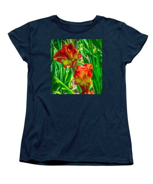 Women's T-Shirt (Standard Cut) featuring the photograph Parrot Gladiolus by Rob Sellers