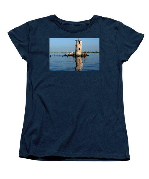 Pass Manchac Lighthouse Women's T-Shirt (Standard Cut) by Charlotte Schafer