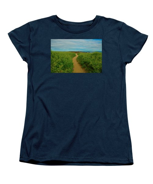 Women's T-Shirt (Standard Cut) featuring the photograph Path To Blue by Brenda Jacobs