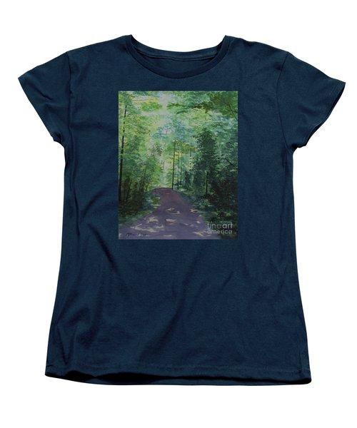 Path To The River Women's T-Shirt (Standard Cut) by Martin Howard