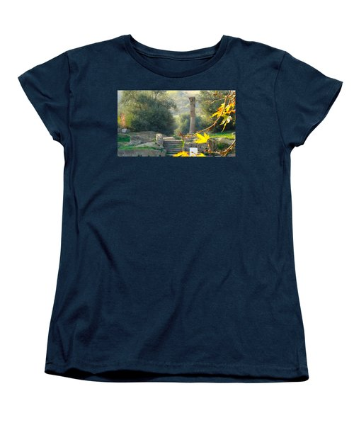 Women's T-Shirt (Standard Cut) featuring the photograph Peace At Asclepion by Alan Lakin