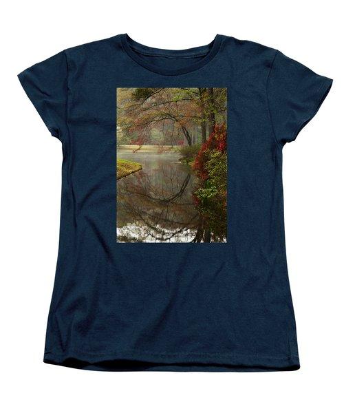 Peace In A Garden Women's T-Shirt (Standard Cut) by Kathy Clark