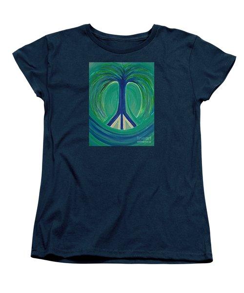 Peace Tree By Jrr Women's T-Shirt (Standard Cut) by First Star Art