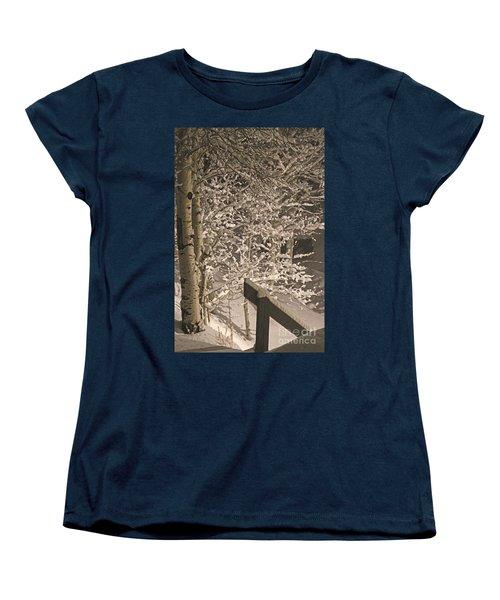 Women's T-Shirt (Standard Cut) featuring the photograph Peaceful Blizzard by Fiona Kennard