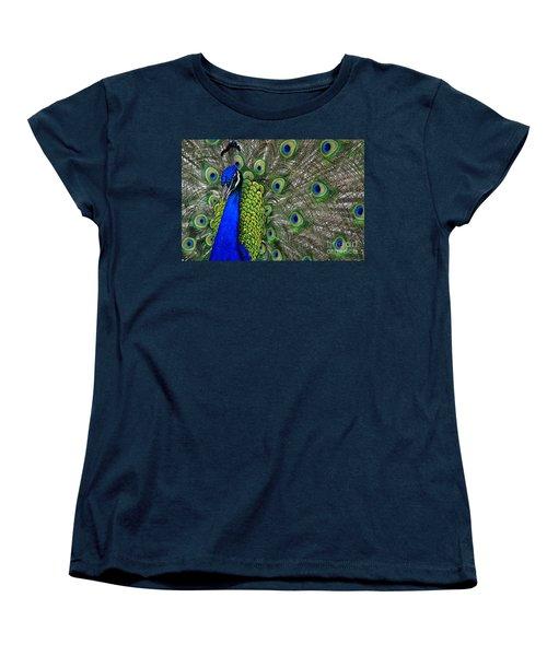 Peacock Head Women's T-Shirt (Standard Cut) by Debby Pueschel