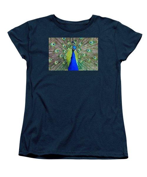 Peacock Women's T-Shirt (Standard Cut) by Roger Becker