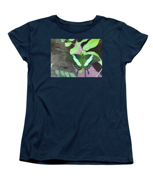 Women's T-Shirt (Standard Cut) featuring the photograph Peacock Swallowtail by Lingfai Leung