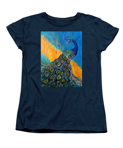 Peacock Waltz #3 Women's T-Shirt (Standard Cut) by Ella Kaye Dickey
