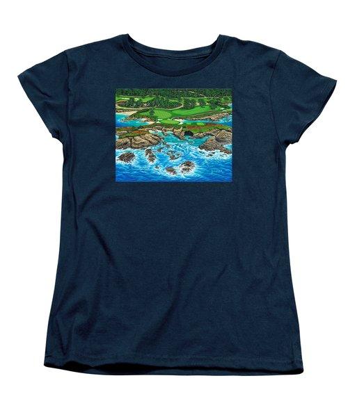 Pebble Beach 15th Hole-north Women's T-Shirt (Standard Cut)