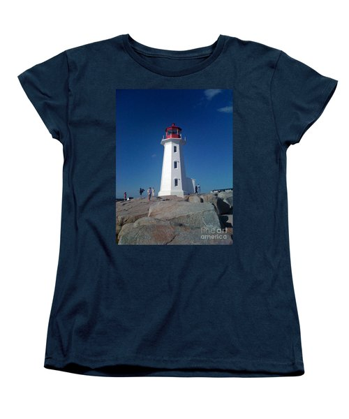 Peggy's Cove Lighthouse Women's T-Shirt (Standard Cut) by Brenda Brown