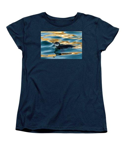 Penguin Watercolor 2 Women's T-Shirt (Standard Cut) by David Beebe