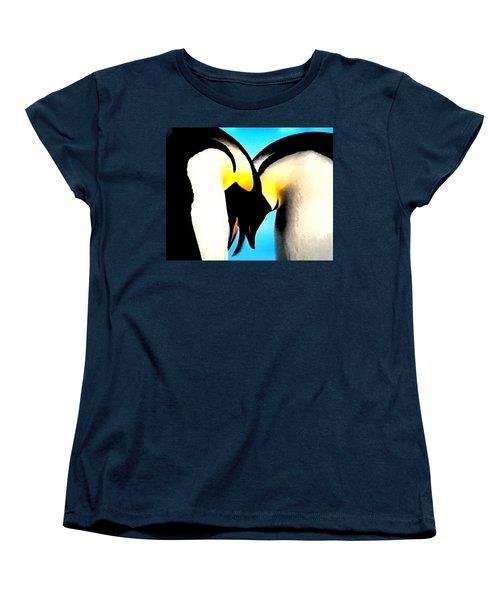 Penquin Love Dance Women's T-Shirt (Standard Cut) by Colette V Hera  Guggenheim