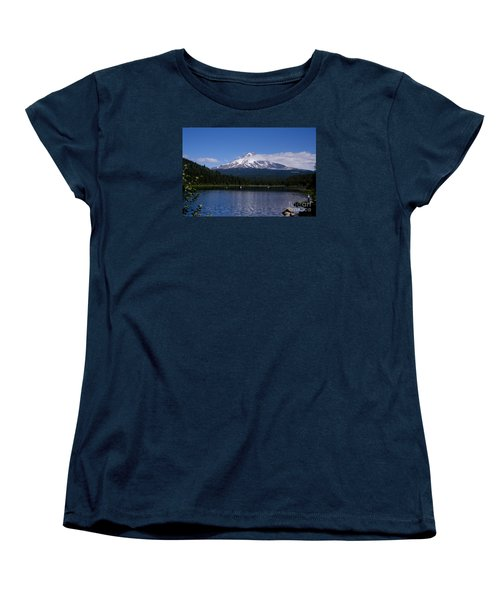 Perfect Day At Trillium Lake Women's T-Shirt (Standard Cut) by Ian Donley