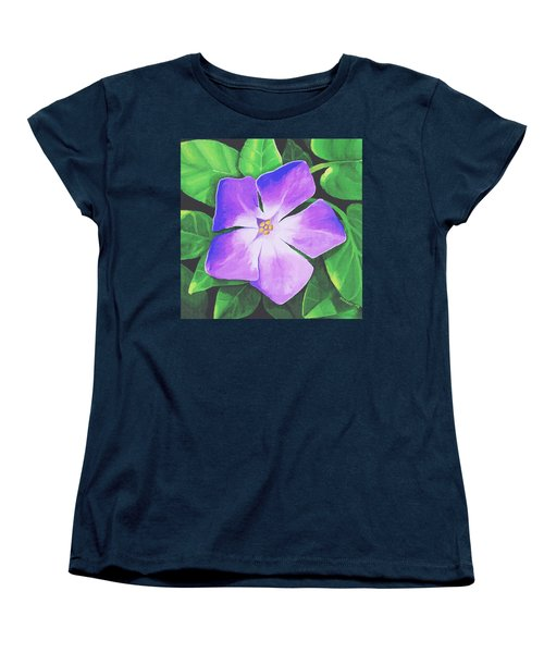 Women's T-Shirt (Standard Cut) featuring the painting Periwinkle by Sophia Schmierer
