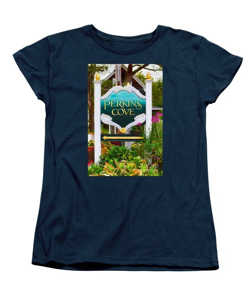 Perkins Cove Sign Women's T-Shirt (Standard Cut) by Jerry Fornarotto