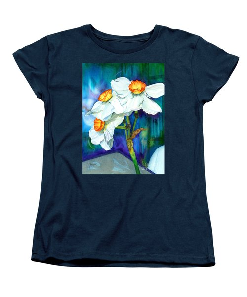 Petal Portrait Women's T-Shirt (Standard Cut) by Barbara Jewell