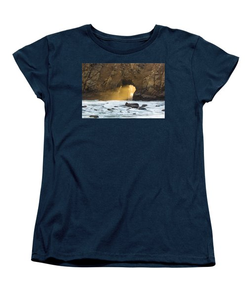 Women's T-Shirt (Standard Cut) featuring the photograph Pfeiffer At Sunset by Suzanne Luft