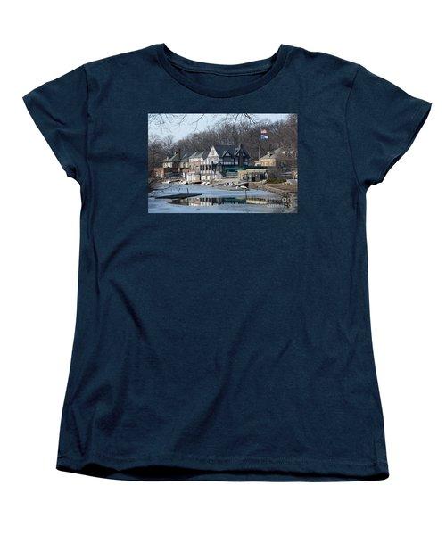 Philadelphia - Boat House Row Women's T-Shirt (Standard Cut) by Cindy Manero